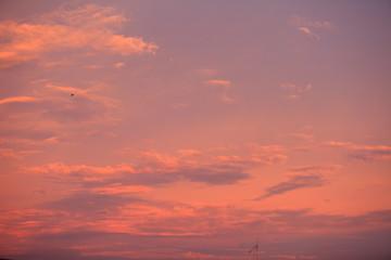 Twilight sky. Purple sky clouds,Blue sky with clouds..
