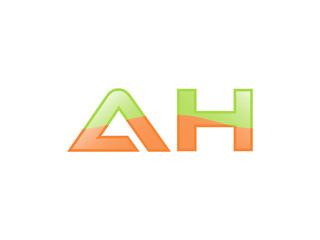 Green Orange shiny AH letters