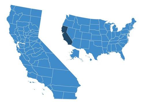 California state map