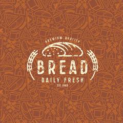 Bakery seamless pattern and emblem