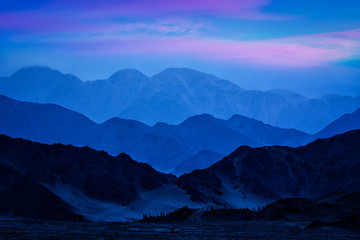 Wall Murals Mountains Himalayas mountains in twilight