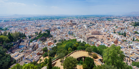 Top view of  Granada.