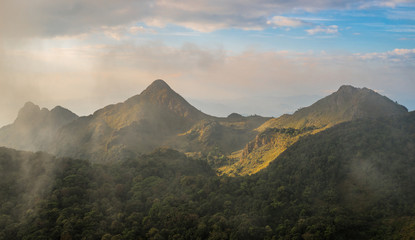 The mountains range in the northern region of Thailand.