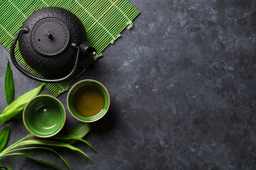 Green japanese tea