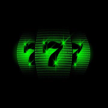 Casino slot machine. Neon vector illustration