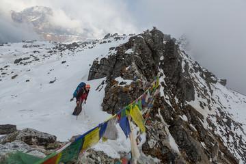 Fotobehang Nepal Hike in Himalayas