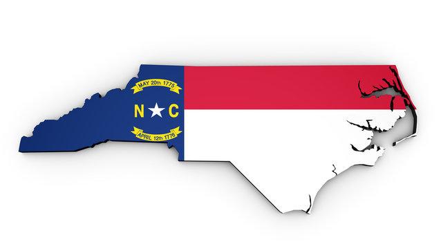 North Carolina State Flag Map