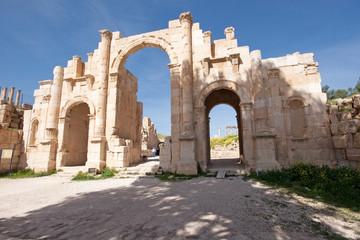Beautiful roman ancient city of Jerash, Jordan
