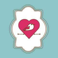 love and bird design , valentines related icon