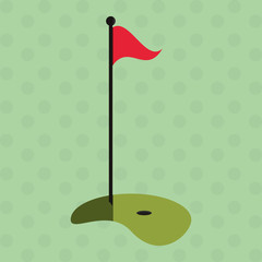 Icon of golf design, vector illustration