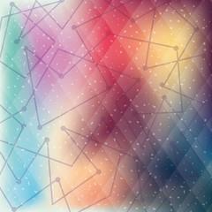 Geometry multicolored background, vector design