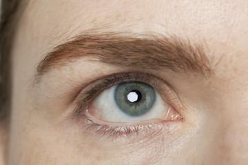 woman's grey eye