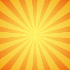 Obraz Yellow grunge sunbeam background. Sun rays abstract wallpaper. - fototapety do salonu