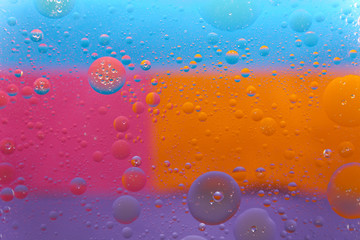 Colourful background with bubbles