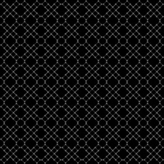 Seamless black geometric pattern.