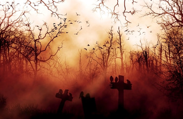 Hell Night Halloween Abstract  background.