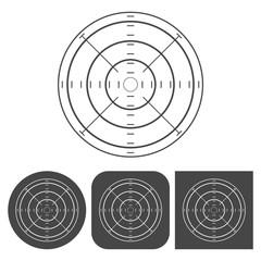 Crosshair set - vector icons set
