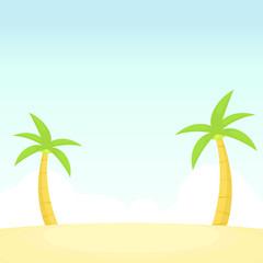 Coconut tree vector illustration
