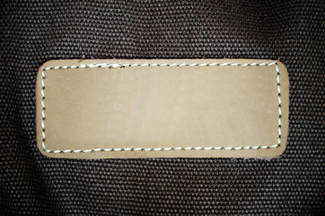 leather on fabric background.