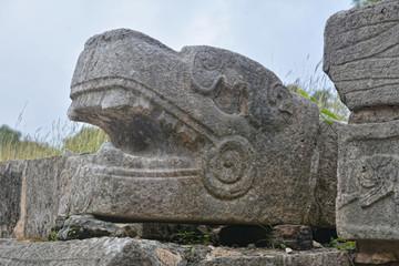Head of Sacred Snake.
