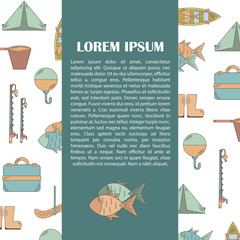 Vector illustration with fishing infographics