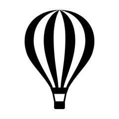 Hot air balloon / ballooning ride flat icon for apps and websites