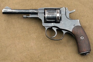 Old revolver from the First and Second World War