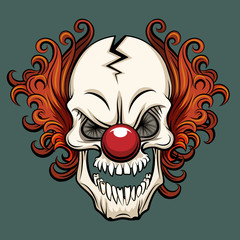 Vector evil clown