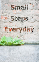 Small steps everyday inspirational quote