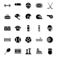 Sporting icon set