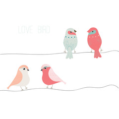 Love bird,bird vector set,bird vector collection,full vector template