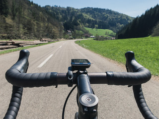 Road Cycling handlebar POV
