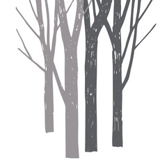 Vector silhouette of trees.