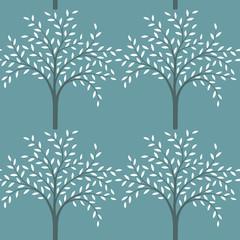 Stylized tree pattern in vector.