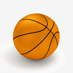 Orange basket ball, isolated in white background and path.3D ill