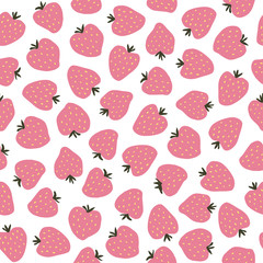 Strawberry pattern.Vector.