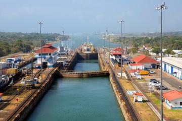 Второй шлюз Панамского канала со стороны Тихого океана