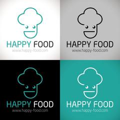 logo restaurant gastronomique restaurateur brasserie