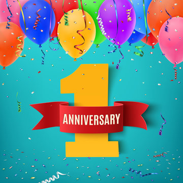 One year anniversary celebration background.