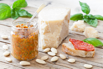 Dried Tomatoes Pesto With Almonds And Basil