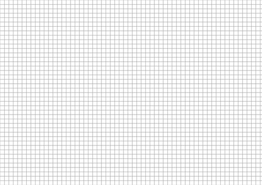 Five millimeters grid on a4 size horizontal sheet