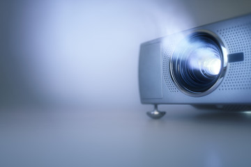 Presentation with lcd video projector and copy space