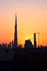 business bay and burj Khalifa landscape , Dubai, United Arab Emirates