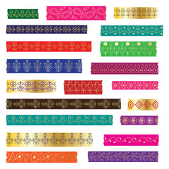 Paisley washi tape clipart