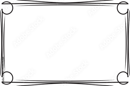 classical decorative simple black frame for your text menu or d