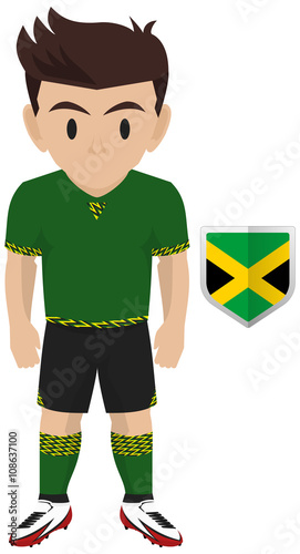 new styles ac466 3ae0d Football / Soccer Kit of Jamaica National Team for American ...
