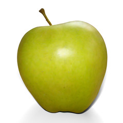 Realistic mesh green apple