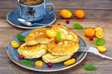 Pancakes with Kumquats and Cranberries