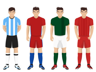 Set of National Team Kit for American Football / Soccer Competition Group D
