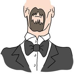 Man wearing a bow tie